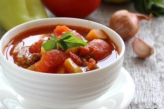 Восточный суп из мясного фарша