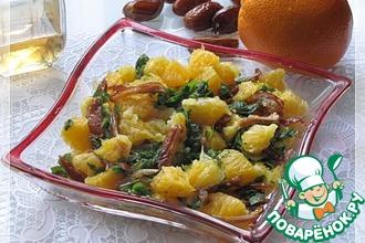 Апельсиновый салат с мятой и финиками