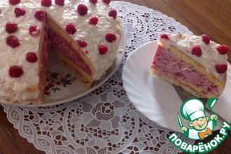 """Торт""""Малиновый купол"""""""