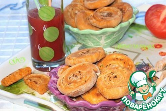 Закусочные пышки на томатном соке