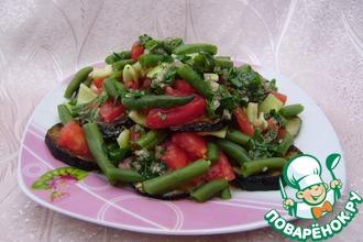 Салат с кабачками и фасолью