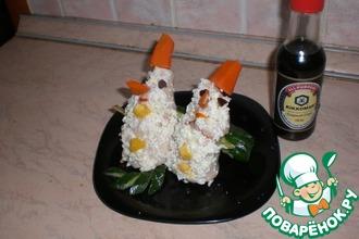 Кальмары с фаршированными яйцами