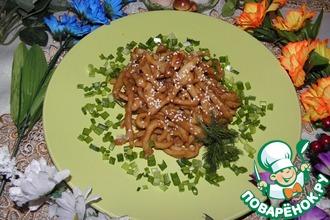 Кальмары в соево-медовом соусе с чесноком