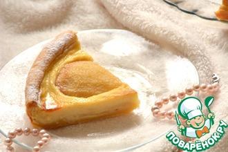 Пирог с карамелизированными грушами и заварным кремом