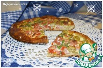 Пицца в японском стиле с васаби