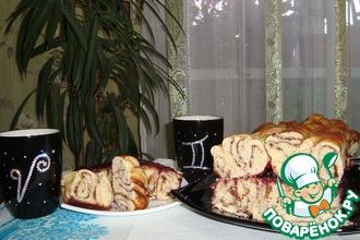 Витой пирог с шоколадом
