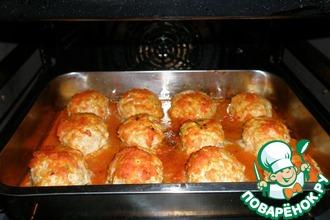 Куриные тефтели в пикантным томатном соусе
