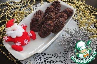 """Шоколадное печенье """"Мадлен"""" с персиками"""