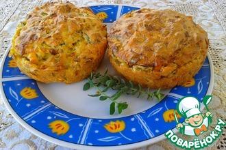 Закусочные кексы с кабачками и фетой