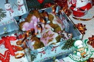 Рождественское печенье с корицей и семенами подсолнечника