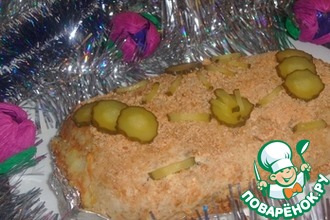Картофель под рыбным панцирем