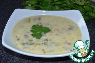 Сырный суп с пореем