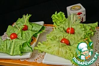 Острый салат с рисовой лапшой