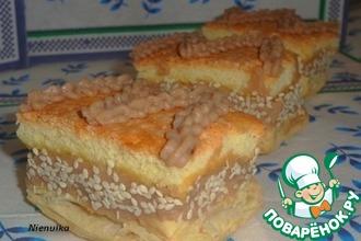 Бисквитно-слоёное пирожное