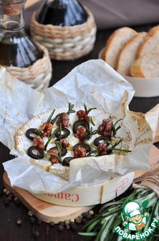 Подавать с багетом, поливая оливково-медовым соусом.
