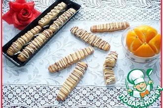 Апельсиново-ореховые палочки с шоколадом