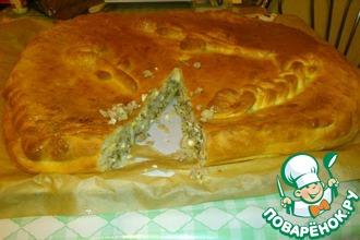 Сытный пирог с капустой и мясом