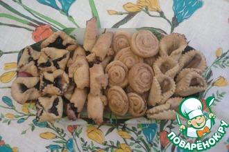 Сметанно-банановое печенье «Цветочное ассорти»