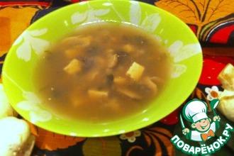 Мисо-суп с шампиньонами