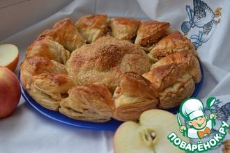 Слойка с яблоками и орехами