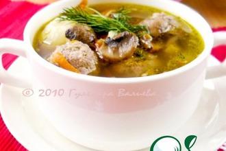 Суп из белой фасоли с грибами