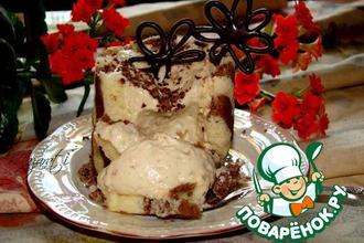 Пирожное с кофейным муссом