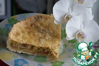 Пирог из лука-порея