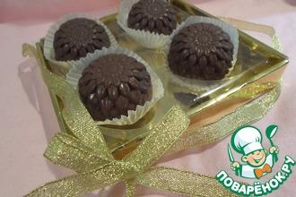 Шоколадные конфеты с печеньем