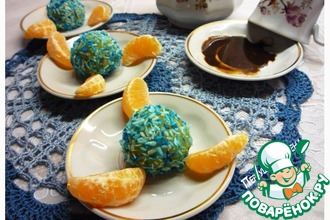 Мандариновые конфеты из поленты