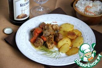 Гуляш из свинины с овощами и картофелем