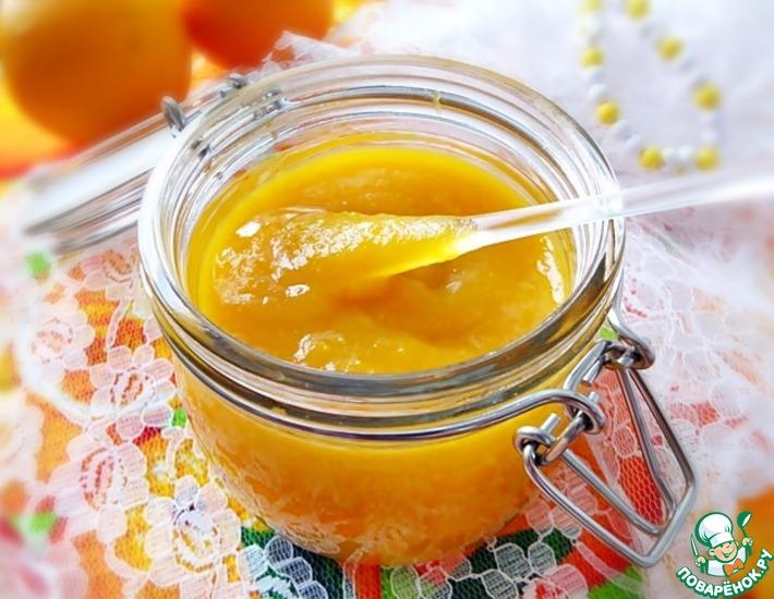 Тыквенно-апельсиновый десертный соус с имбирем и лимоном