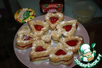 Миндальное печенье с малиновым джемом
