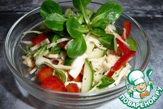 Салат из свежей капусты с куриным мясом