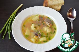 Суп с потрошками и овсяными клецками