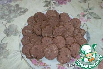 Колбаса из печени с шампиньонами