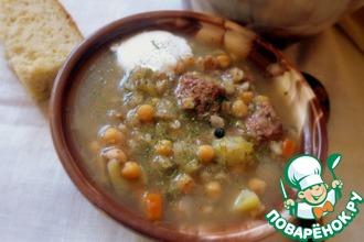 """Суп с мясом и нутом """"Прочь холода"""""""