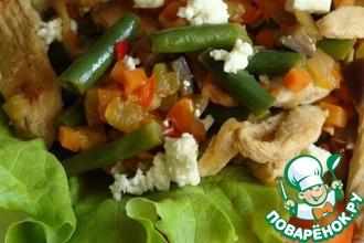 Быстрый ужин из грудки с овощами