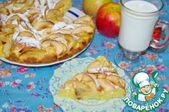 Яблочный пирог на творожном тесте