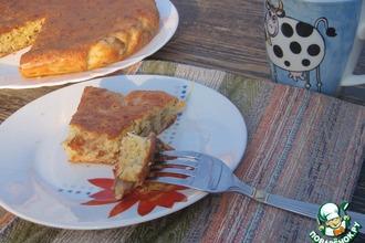 Сырный пирог с шампиньонами
