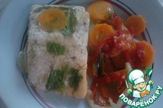 Запеченный голец с овощами