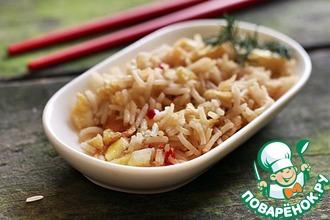 Рис с чесночно-имбирным омлетом