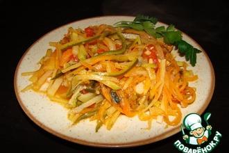 Спагетти из овощей