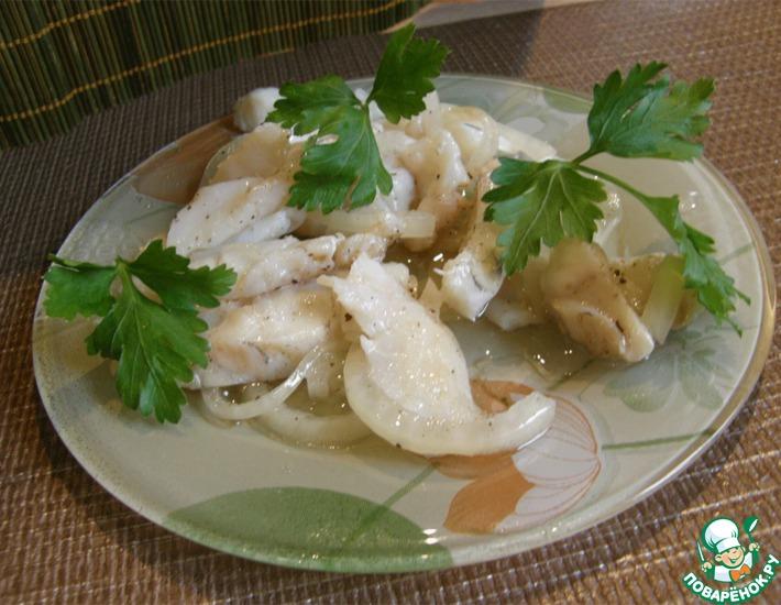 Маринованный судак (толстолобик, кальмары)