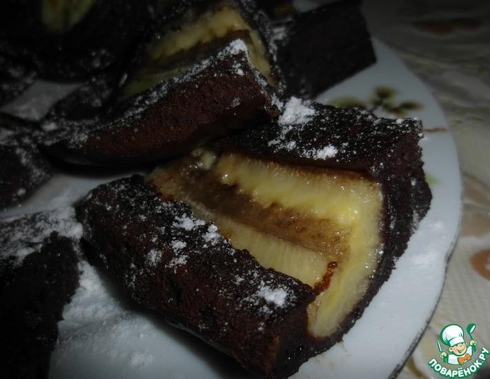 """Пирожное """"Бананово-шоколадное"""""""