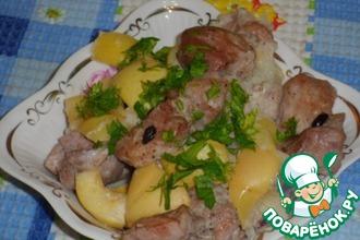 Свинина с яблоками
