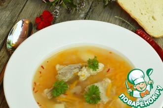 Суп из баранины с рисом и алычой