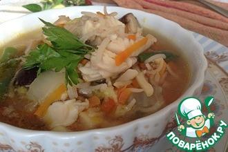 Рыбный суп из трески с рисом
