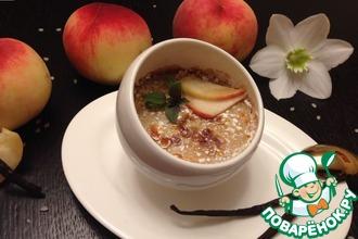 Рисовый крем-брюле с персиками