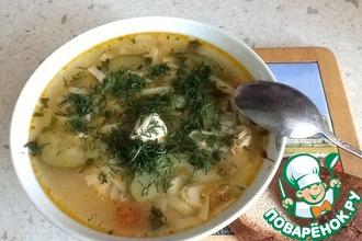 Куриный суп с цукини и лапшой