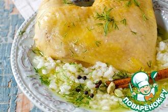 Рисовый суп с курицей и корицей